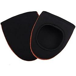 CC * CD cálido ciclismo dedos funda exterior zapatos pantalla térmica Cap (negro)
