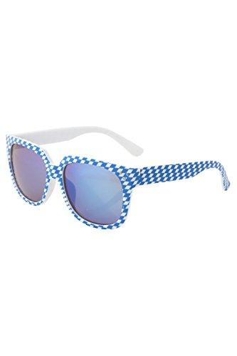 Trendige Rautensonnenbrille mit verspiegelten Gläsern in 2 verschiedenen Farben