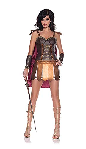 UW Sexy Conqueror Römischer Gladiator Kleid Kostüm für Erwachsene (Rock Römische Gladiator)