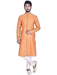 Manyavar Men's Blended Kurta & Churidar Set (M511175)