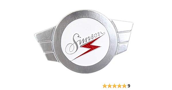Warenzeichenplakette Simsonflügel Alu Siberfarbig Firmenschild Für Lenkerschale Kr51 Sr4 2 3 4 Auto