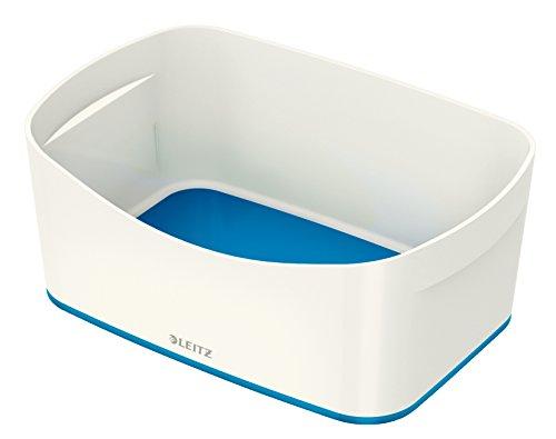 Leitz MyBox, Aufbewahrungsschale, Blickdicht, Weiß/Blau Metallic, Kunststoff, 52574036
