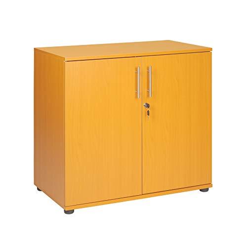 Armario de oficina de madera de haya, altura de 2 puertas, con...
