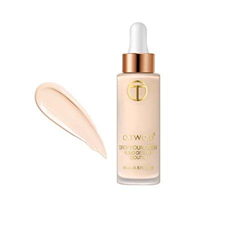 ROMANTIC BEAR Full Coverage Liquid Foundation Makeup Drops für Gesichtshaut,Erfrischend, Ölkontrolle -