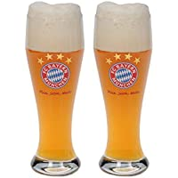 FC Bayern München Weißbierglas 2er Set