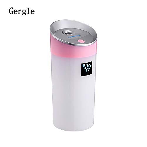 YL Humidificador USB 300Ml, Fabricante ultrasónico de la Niebla del difusor del Aroma del Aire del humectador, difusor del Aceite Esencial del hogar y del Coche,Pink