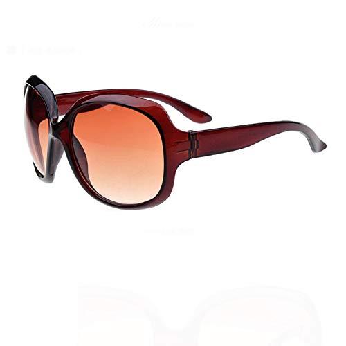 YUHANGH Frog Sonnenbrillen Big Frame Sonnenbrillen Für Damen Black Clear Lens Shade Für Damen Anti-Uv - Versace Red Lens