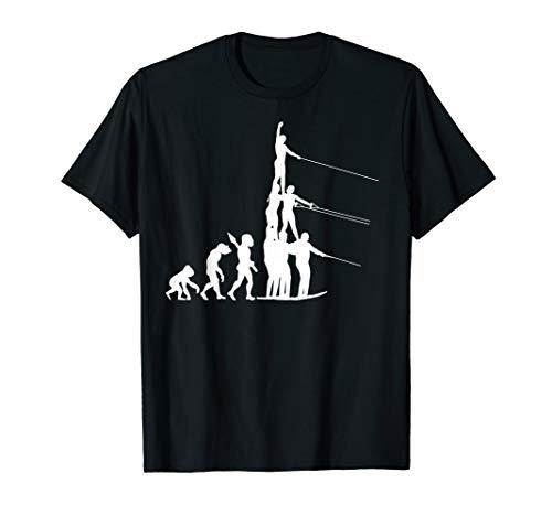 Wasserski Wasser Ski Skier Evolution Fun Sport Wassersport T-Shirt