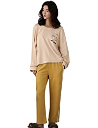 16414a11680 Meng Wei Shop Pajamas Women s Spring And Autumn Cotton Long-sleeved Pajamas  Loose Casual Women s