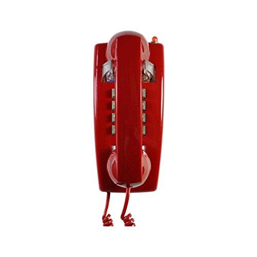 Phone telefono con filo/telefono retro/appeso a parete telefoni decorativi vintage/telefono a muro con tecnologia a pulsante/toni suoneria in metallo/telefoni fissi/telefoni antichi rosso yhx