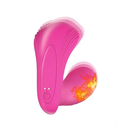 Masajeador Control Remoto Inalámbrico 15m Para Mujer, con Función de Ca-lefacción y 10 Modos, Masajeador Mando de Dos Motores para Relajar el Cuerpo