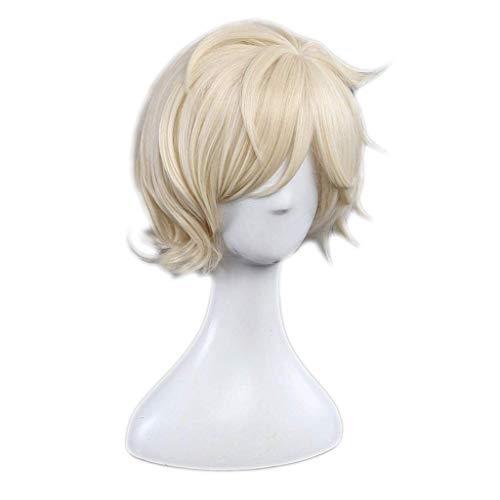 Touken Ranbu (Gokotai) Anime Cosplay Rose Net Perücken 100% hochtemperaturbeständige Faser Ombre Beige kurze glatte Haare 12 Zoll Polystyrol (Gokotai Kostüm)
