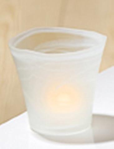 GILDE Dekovase aus Glas Alabaster, 14x14 cm