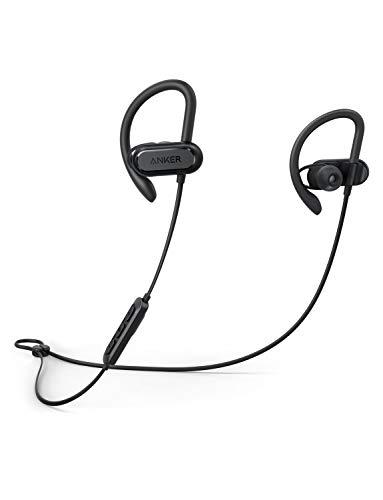 Soundcore Spirit X Bluetooth Kopfhörer, mit SweatGuard Technologie, 12 Stunden Akkulaufzeit, Super Halt und Fantastischem Sound, für iPhone, Samsung, Huawei und mehr(Generalüberholt)