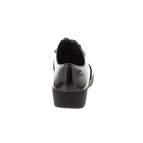 FitFlop Classic Tassel Superoxford - Black/Black Snake Black
