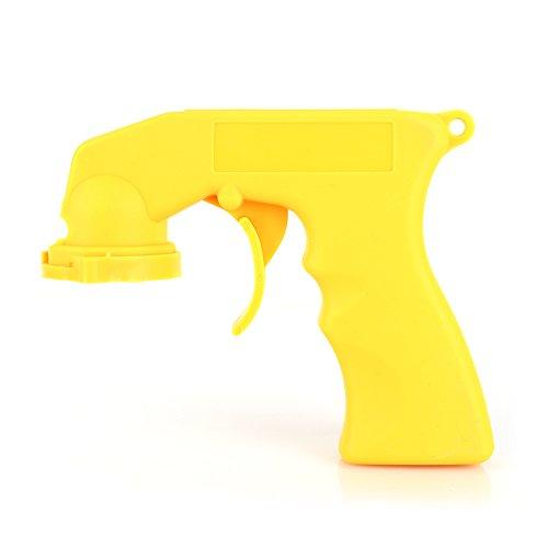 Dewin Kann handhaben - Spray-Adapter, Aerosol-Sprühpistole-Griff mit vollem Griff-Auslöser-Sperrkragen, für Auto-Wartung (Color : Yellow) -