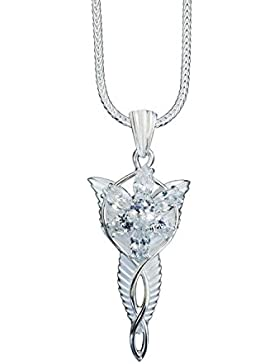 Großer Arwens Abendstern echtes Silber 925/- aus Herr der Ringe - inkl. 50cm Fuchsschwanzkette aus Silber 925/-