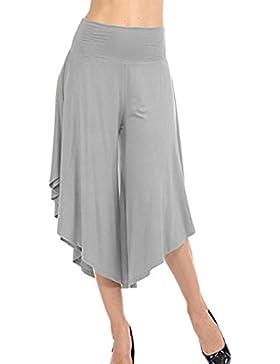 Pantalones Mujer Verano Pantalone Acampanados Cintura Alta Pantalones Marlene Modernos Largos Sólidos Elegantes...