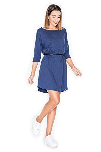 Katrus Robe confortable en coton doux Bleu foncé