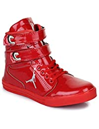Men Casual Red Casual Dancing Shoes :: Appe-00284