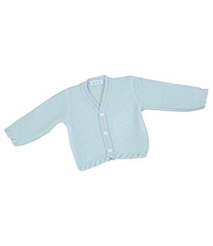 BabyPrem Babykleidung 0 - 18 Monate StrickJäckchen Pullover Jungen Unisex BLAU 0-6 MONATE