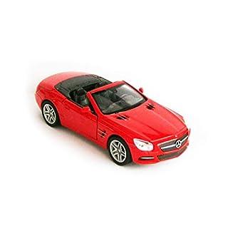 Anik-Shop Mercedes-Benz 2012 SL500 Modellauto Metall 4 Varianten Modell Auto Spielzeugauto Welly 79 (Cabrio Rot)
