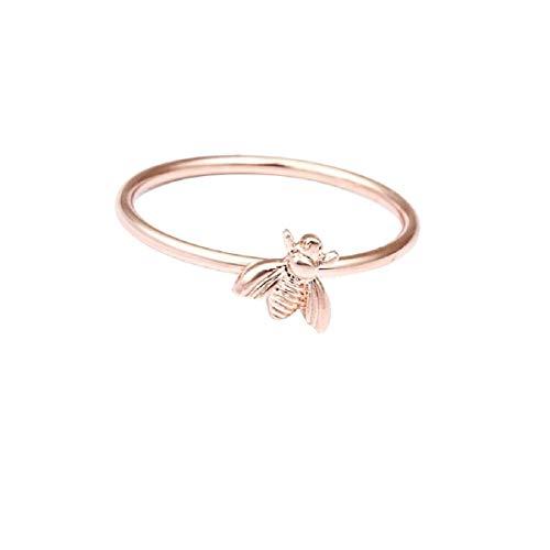 Ringe, Barlingrock Mother's Day Ring Einfache niedliche Insekten Biene Ringe für Frauen Geburtstag Jubiläum Versprechen Schmuck Oval Weißer Zirkon Damen Ring Schmuck - Große Kostüm Schmuck Ringe