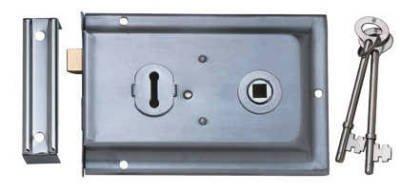 Satin Chrome Reversible Rim Lock JL188SC
