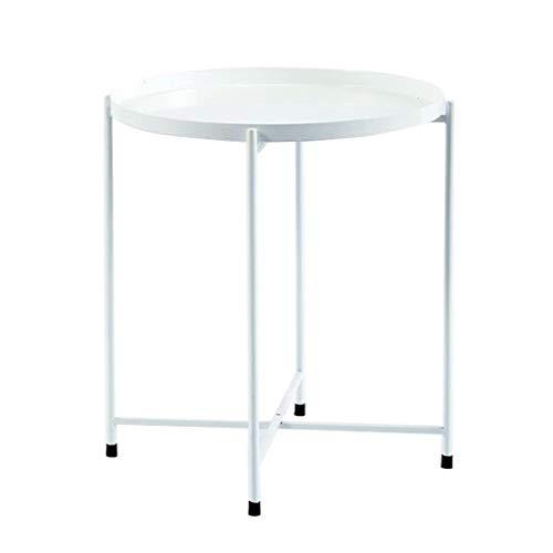 Dsrgwe Beistelltisch, Metall-Beistelltisch Beistelltisch Beistelltisch Couchtisch - Wohnzimmer Sofa Couchtisch Einfach zu montieren (Color : White) - Buche Kirschbaum-schrank