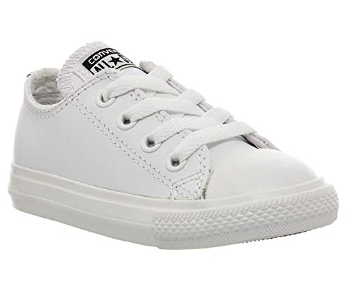 Converse Chuck Taylor All Star Infant White Leather 18 EU (Infant Baby Boy Schuhe)