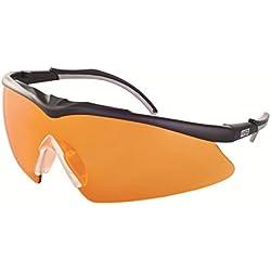 Gafas de MSA Safety Para Tiro Deportivo y Caza TecTor OptiRock UV400 + Bolsa de Microfibra y Cordón, Color: Naranja