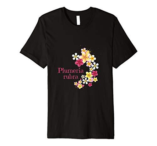Plumeria Rubra T-Shirt Exotische Blume Tempelblume
