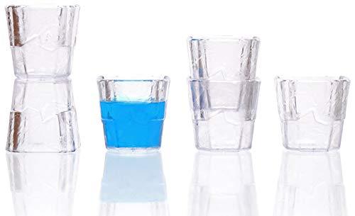 idea-station Ice Kunststoff-Schnapsgläser 6 Stück 4 cl (40 ml) bruchsicher, mehrweg, schwere Ausführung, Stamper, Shooter-Gläser, Shot-Gläser, Whiskey-Becher, Plastik-Gläser, Plastik-Becher, BPA-Frei