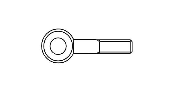 s Piton /à visser 15 mm TOOLCRAFT 828085 M3 x 15 mm Acier zingu/é 50 pc