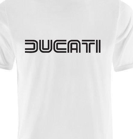Ducati T-Shirt - Farbe Weiß - Logo Schwarz XL Weiß/Schwarz