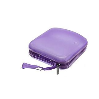 Arpoador Portable disc storage box hard disk box CD DVD VCD box (purple)