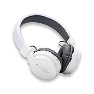 Generic SH12 Wireless Bluetooth Headphone With FM And SD Card Slot (White)