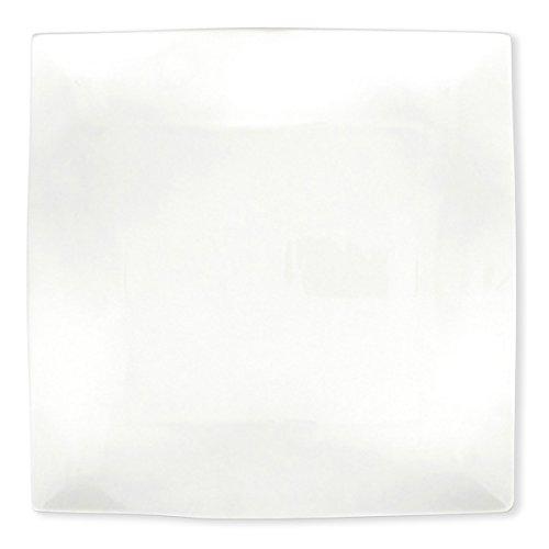 Bruno Evrard Assiette plate carrée en porcelaine 26cm - Lot de 6 - KARENA