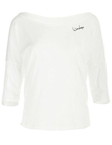 Winshape Damen Dance Style, Fitness Freizeit Sport Yoga Workout 3/4-arm Shirt, Vanilla Weiss, L - 3/4-Ärmel-leichte Pullover