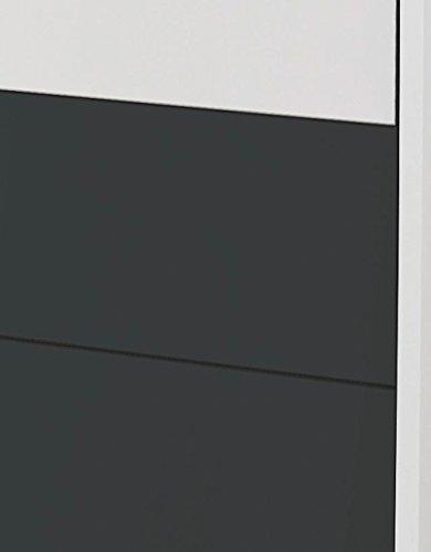 Schrankbett mit 90×200 Liegefläche in Weiß, Funktionsbett ist vertikal ausziehbar, Bett ist die perfekte Lösung für gesunden Schlaf in kleinen Räumen - 4