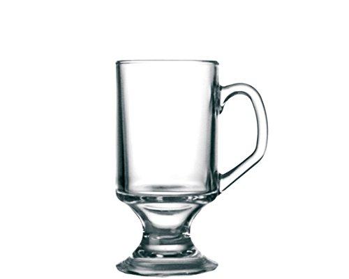 Arcoroc Irish Coffee Glas mit Henkel auf Fuß 290ml, 4 Stück Irish Coffee Glas Set