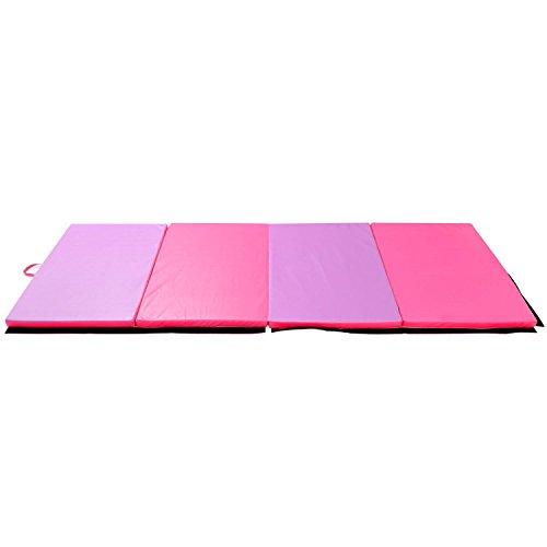 Homcom Colchoneta Gimnasia Plegable Gruesa Antideslizante Alfombra para Fitness Yoga Deportiva Adultos y Niños 183x120cm Espesor 5cm Espuma EPE