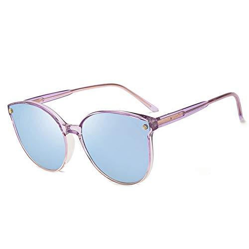 Bunter Polarisierter Sonnenbrillen-weiblicher Treibender Spiegel, Stilvoller, UV-beständiger, Bequemer Augenschutz, Verwendbar Für Eine Vielzahl Von Gesichtstypen. (Color : Blue)