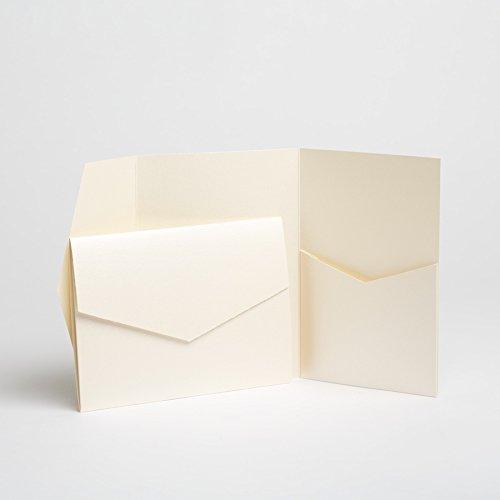 Ivory Matte Pocketfold Invites 130mmx185mm 50