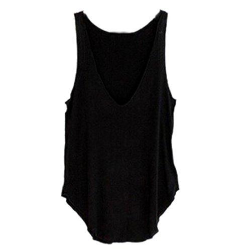 Sexy Gilet , Amlaiworld Les femmes d'été sans manches V-Neck Candy Vest en vrac Débardeurs T-shirt Noir