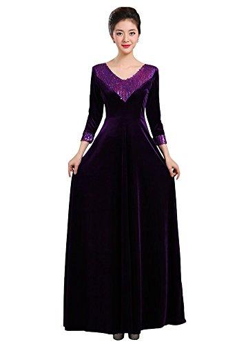 Drasawee - Robe - Taille empire - Femme Violet