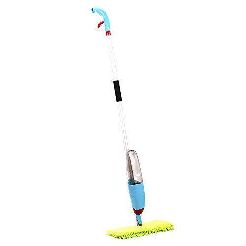 Rziioo Spray-Mopp, 360 ° Doppelseitiger Microfiber-Wasser-Spray-Mopp-Reiniger-Flache Bodenfliesen-Reinigung