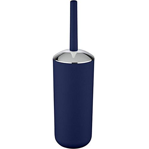 WENKO 22522100 WC-Garnitur Brasil - WC-Bürstenhalter, absolut bruchsicher, 10 x 37 x 10 cm, dunkelblau