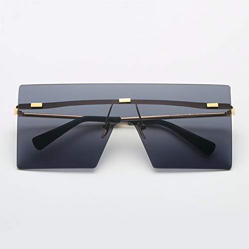 CCGSDJ Randlose Sonnenbrille Frauen Männer Vintage Mode Metall Sonnenbrille Weibliche Übergroße Shades Brillen Männliche Brille