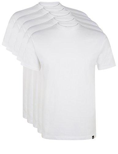 Ultrasport Herren Sport Freizeit T-Shirt mit Rundhalsausschnitt 5er Set, Weiß, XXL, 1317-100